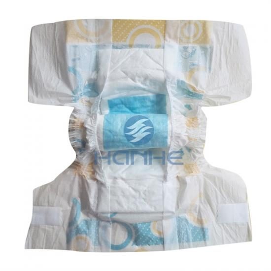 Printed baby diapers
